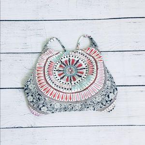Billabong boho style pattern lined bikini top